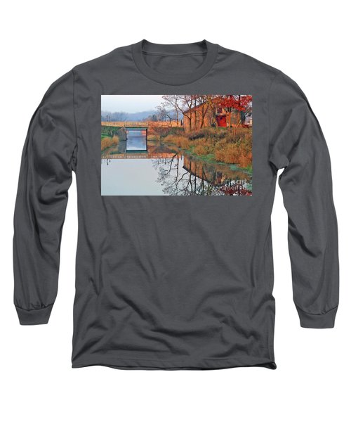 Still Waters On The Canal Long Sleeve T-Shirt