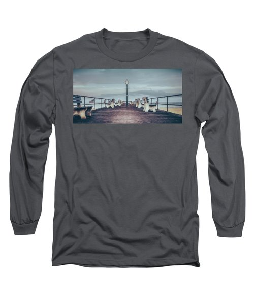 Stormy Boardwalk Long Sleeve T-Shirt