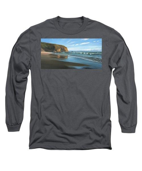 Strands Beach Dana Point Oil Painting Long Sleeve T-Shirt