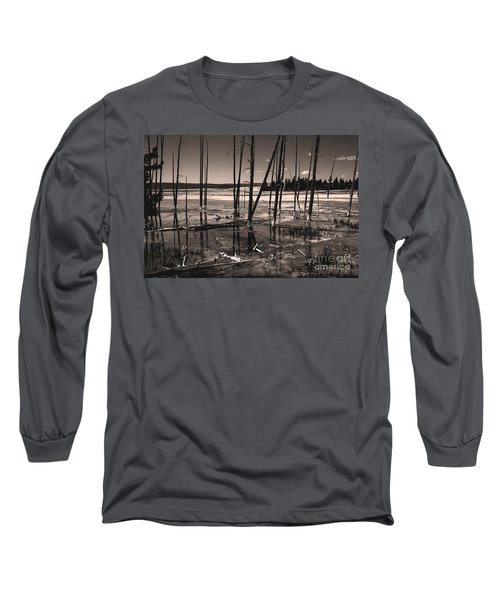 Long Sleeve T-Shirt featuring the photograph Sulfur Field by Mae Wertz