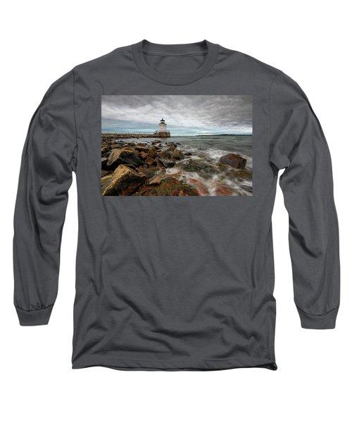 Summer Tides At Bug Light Long Sleeve T-Shirt