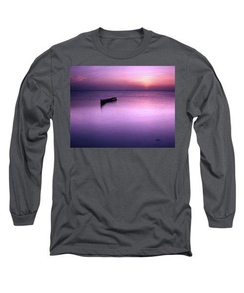 Sun Sets On A Sunken Boat Long Sleeve T-Shirt