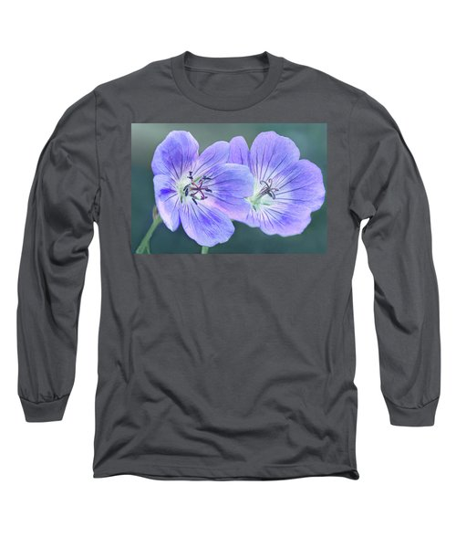 Long Sleeve T-Shirt featuring the photograph Sunny Blooms by Leda Robertson