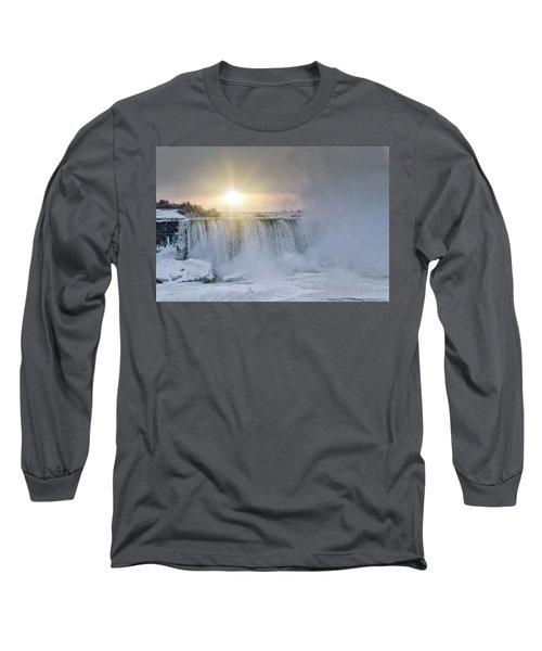 Sunrise In Niagara Falls Long Sleeve T-Shirt