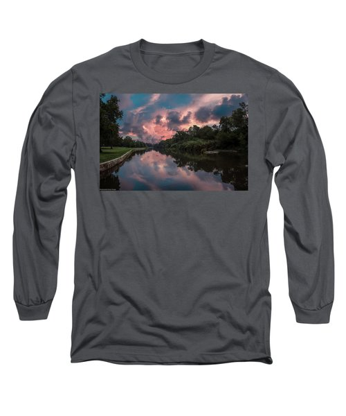 Sunrise On The River Long Sleeve T-Shirt