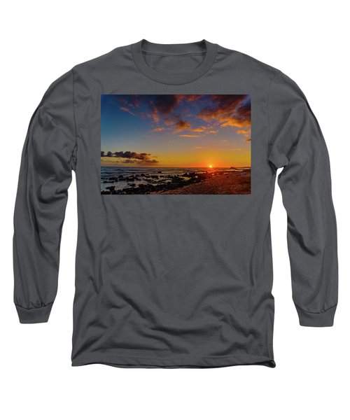 Sunset At Kailua Beach Long Sleeve T-Shirt