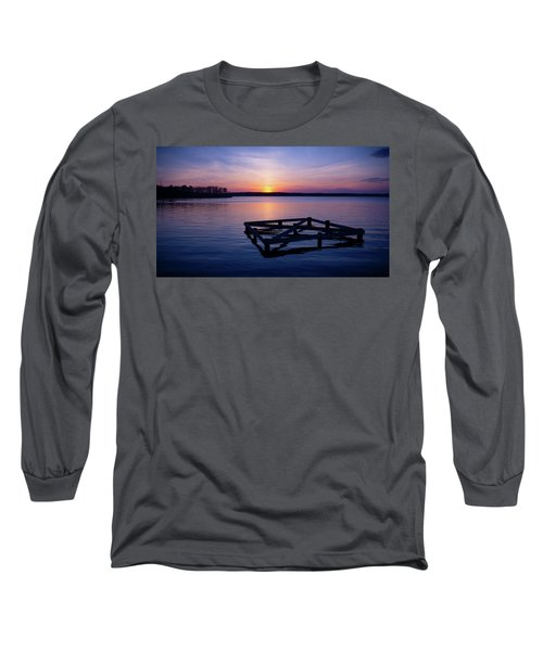 Sunset At The Reservoir  Long Sleeve T-Shirt