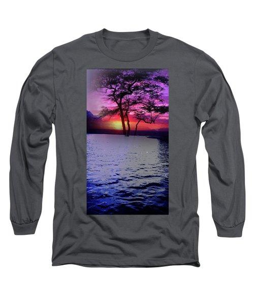 Sunset By Lake. Long Sleeve T-Shirt