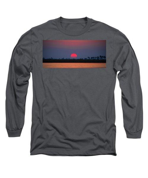 Sunset In Botswana Long Sleeve T-Shirt