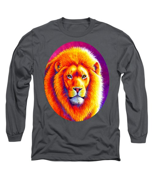 Sunset On The Savanna - African Lion Long Sleeve T-Shirt