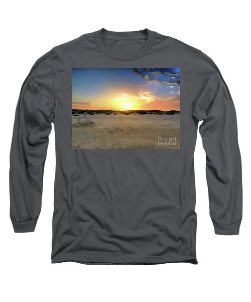 Sunset Over N Padre Island Beach Long Sleeve T-Shirt