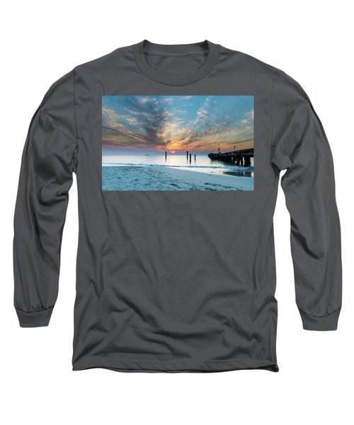 Sunset Seascape And Beautiful Clouds Long Sleeve T-Shirt