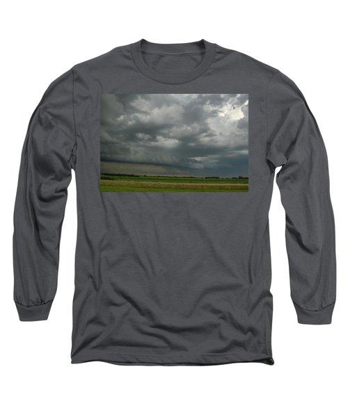 Supercells In Nebraska 049 Long Sleeve T-Shirt