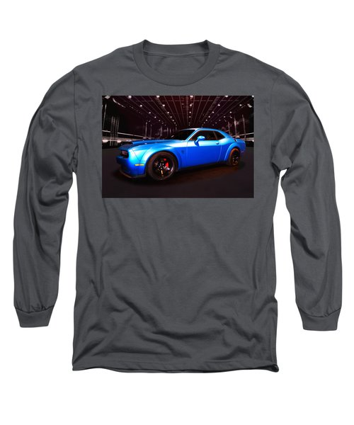 Supercharged Dodge Challenger Long Sleeve T-Shirt