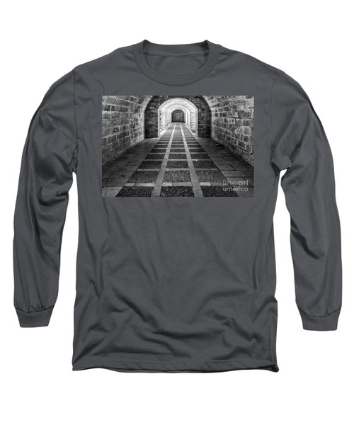 Symmetry In Black And White Long Sleeve T-Shirt