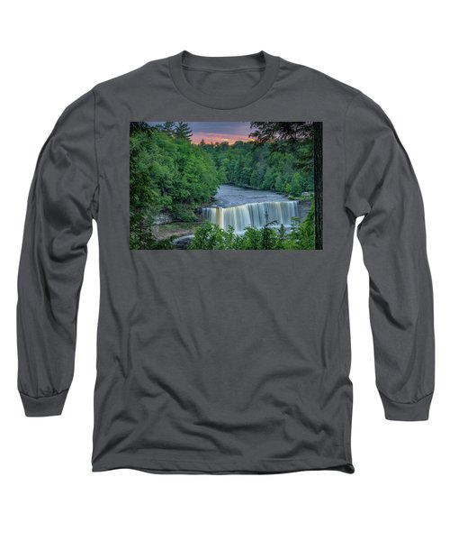Tahquamenon Falls Sunset. Long Sleeve T-Shirt
