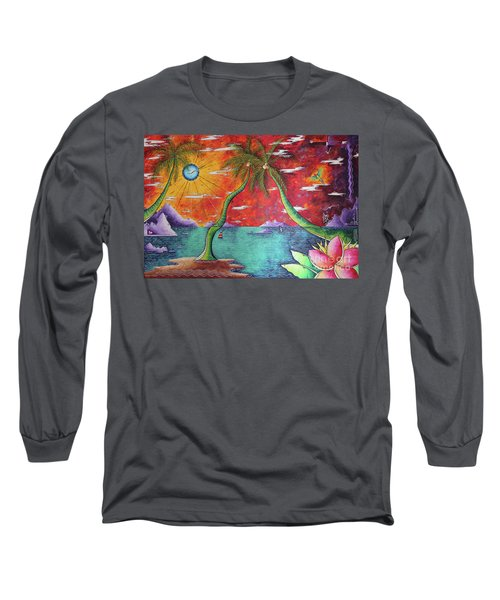 Take Me To The Tropics Tropical Surrealism Mad Wonderland By Megan Duncanson Long Sleeve T-Shirt