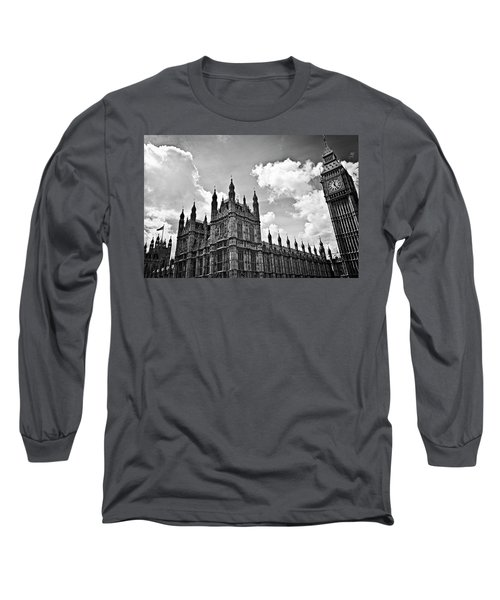 Tea Time With Big Ben At Westminster - Classic Edition Long Sleeve T-Shirt