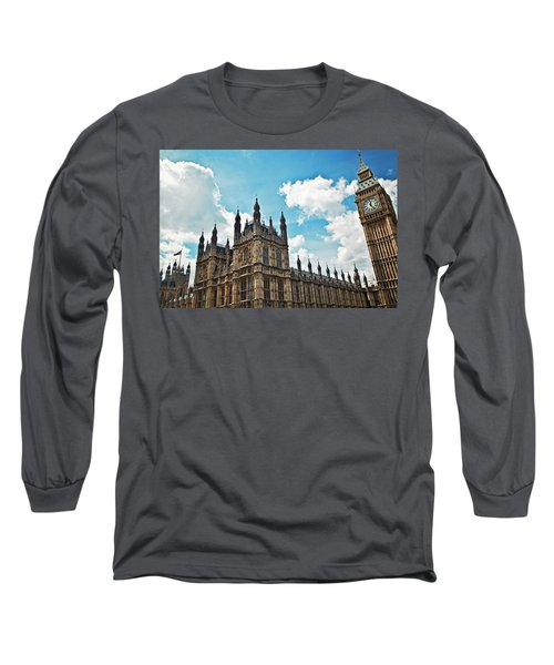 Tea Time With Big Ben At Westminster II Long Sleeve T-Shirt