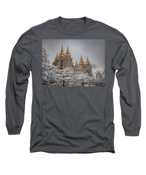 Temple In The Snow Long Sleeve T-Shirt