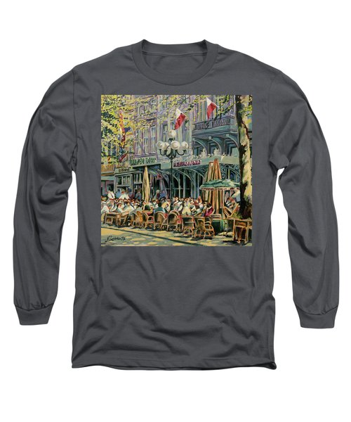 Terrace At The Vrijthof In Maastricht Long Sleeve T-Shirt