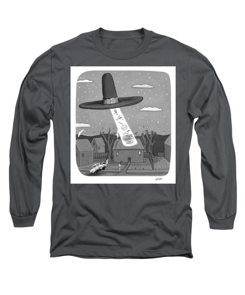 Thanksgiving Aliens Long Sleeve T-Shirt