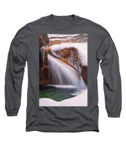 The Basin, Close Up In A Winter Storm Long Sleeve T-Shirt