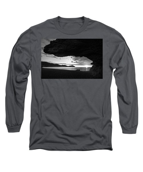 The Beach Of The Sculptures At Dawn In Almeria Long Sleeve T-Shirt