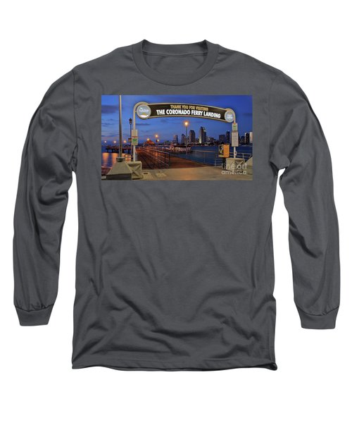 The Coronado Ferry Landing Long Sleeve T-Shirt