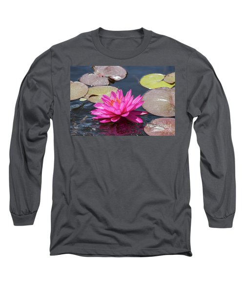 Long Sleeve T-Shirt featuring the photograph The Lady Is Pink by Arik Baltinester