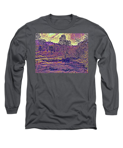 The  Pond  At  Twilight Long Sleeve T-Shirt