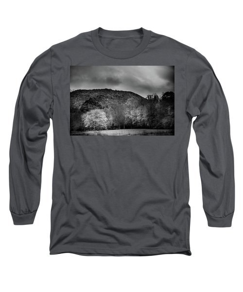 The Yellow Tree In Black And White Long Sleeve T-Shirt
