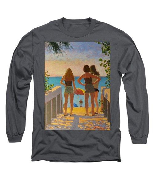 Three Beach Girls Long Sleeve T-Shirt