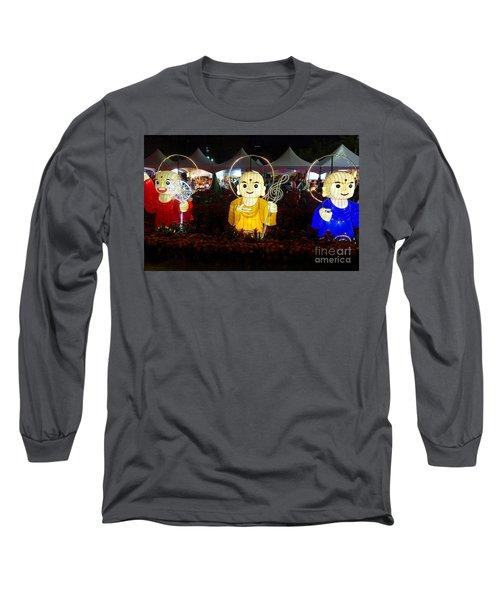 Three Lanterns In The Shape Of Buddhist Monks Long Sleeve T-Shirt