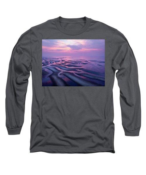 Tidal Flats Sunset Long Sleeve T-Shirt