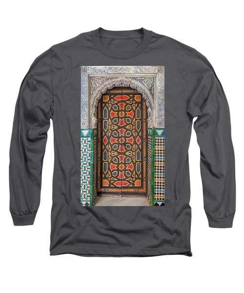 Tiled Door Of Sevilla Long Sleeve T-Shirt