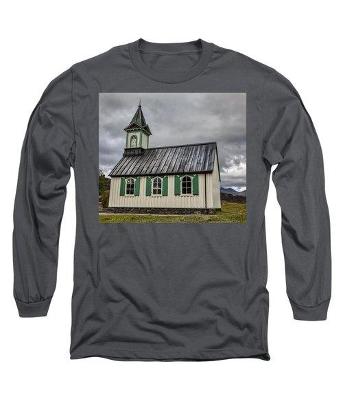 Tiny Church Of Iceland Long Sleeve T-Shirt