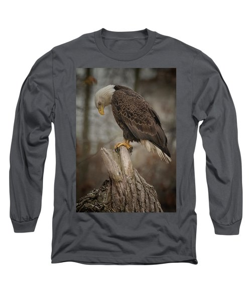 Tired Eagle Dad  Long Sleeve T-Shirt