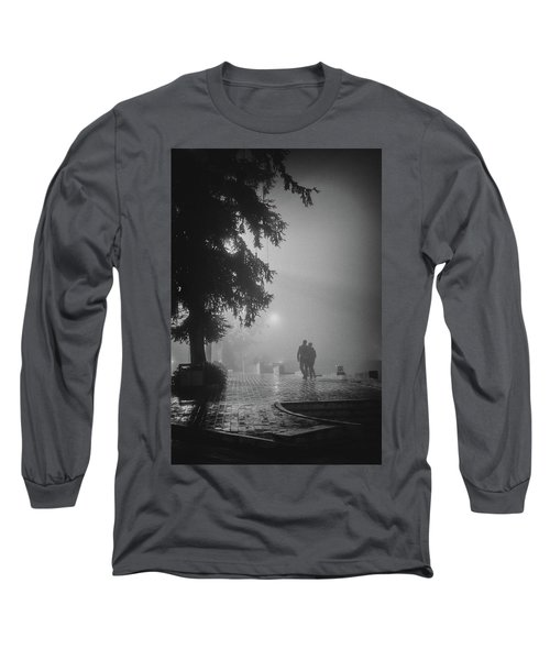 Long Sleeve T-Shirt featuring the photograph Together In Fog, Sa Pa, 2014 by Hitendra SINKAR