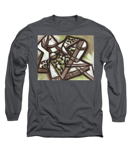 Tommervik Cubist Hawaiian Woman Art Print Long Sleeve T-Shirt