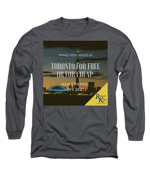 Toronto Debt Relief Services  Solutions To Get Out Of Debt Long Sleeve T-Shirt
