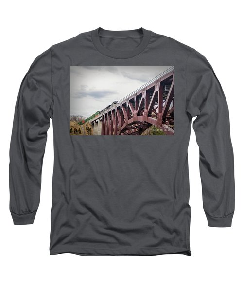 Train Over Letchworth Long Sleeve T-Shirt