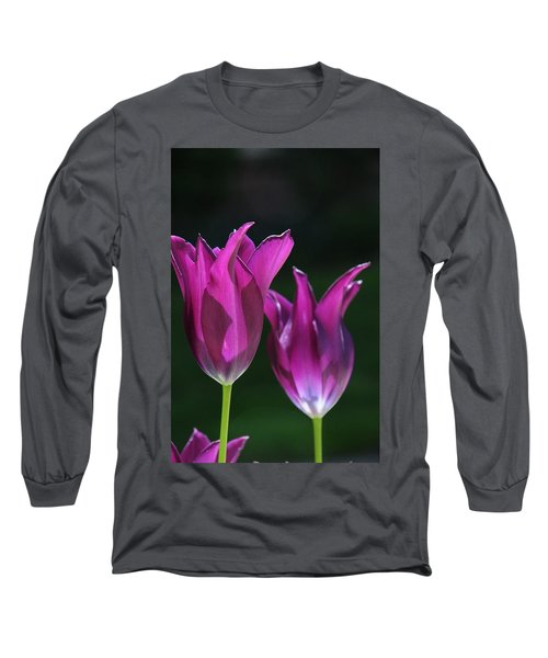 Translucent Tulips Long Sleeve T-Shirt