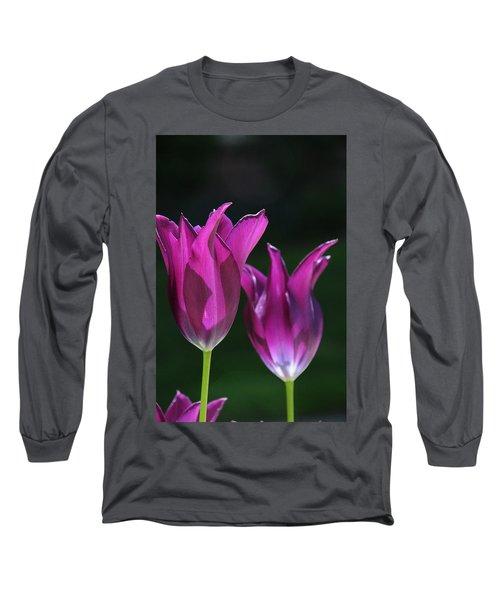 Translucent Tulips Long Sleeve T-Shirt