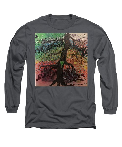 Tree Of Life Chakra Tree Long Sleeve T-Shirt
