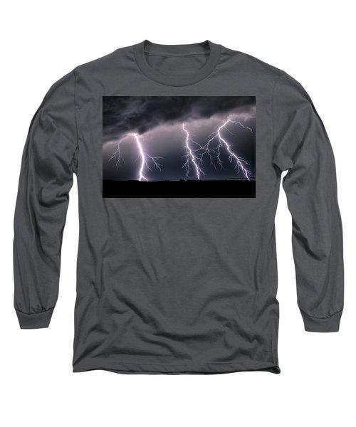Triplets Cropped Long Sleeve T-Shirt