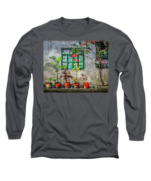 Long Sleeve T-Shirt featuring the photograph Tropical Wall by Michael Arend