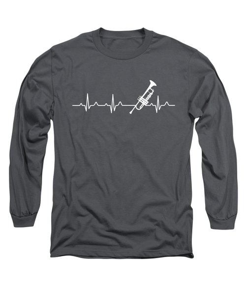 Trumpet Heartbeat For Your Hobbie Tees Long Sleeve T-Shirt