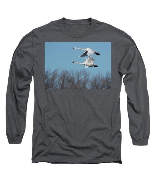 Tundra Swan Duo Long Sleeve T-Shirt