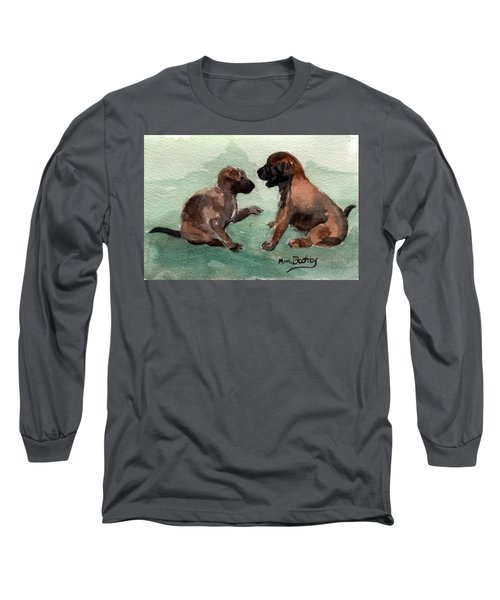 Two Malinois Puppies Long Sleeve T-Shirt